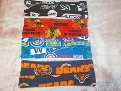 Chicago Cubs Bears Hawks Sox Lot of 4 Face Mask ! New Designs! $13.00