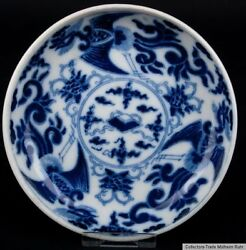 China 19. Century Plate -a Chinese Blue And White Porcelain Dish Piatto Chinois