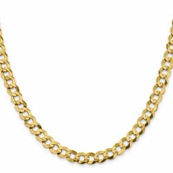 14k Yellow Gold 8.3mm Solid Polished Light Flat Cuban Link Necklace Msrp 7072