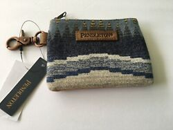 New Pendleton Designer Aztec Zipper Pouch Card Holder Wallet With Clip $39.99