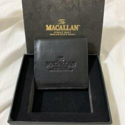 Macallan Scotch Whisky Black Leather Coin Case