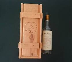 The Macallan 25 Year Anniversary Empty Bottole With Wooden Box Whisky