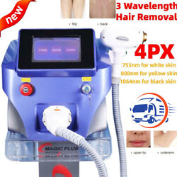 1064/755/808nm Laser Permanent Painless Body Facial Hair Removal Instrument