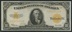 Fr1173 10 1922 Gold Note Very Choice Unc Wln523