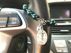 Rosary Birthstone Car Auto Steering Wheel Rear View Mirror Lady Of The Highway