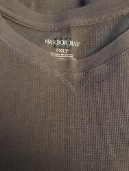 Size 3xlt Brown Harbor Bay Long Sleeve Thermal Shirt Dxl Big Tall Good Used Cond