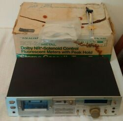 Vintage Realistic Stereo Cassette Tape Deck Sct-23 Box Antenna Powers Up Metal
