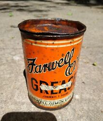 Vintage Farwell Ok Ozmun Kirk And Co 1 Lb Grease Can St Paul Mn Tin Oil Gas