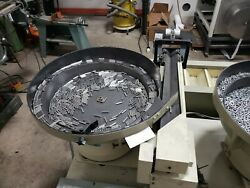 APS Automated Kit-veyor for parts 6 vibratory bowls with AB Micrologix PLC