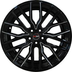4 Flare 20 Inch Black Mill Rims Et20 Fits Chevy S10 4wd 2000 - 2003