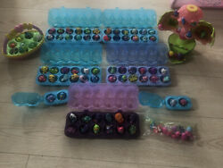 Hatchimals Colleggtibles Mixed Lot Of 90 With Egg Storage Container, Basket,egg
