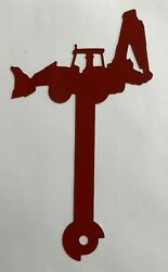 Backhoe Tractor Metal Mailbox Flag Cnc Metal Art Painted Red Hardware Included