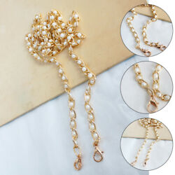 Fashion Pearl Metal Chain Bags Strap Crossbody Shoulder Replacement Handle Belts $3.19