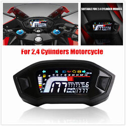 Motorcycle 2,4 Cylinder Lcd Display Speedometer Instrument For Fuel Level Rpm
