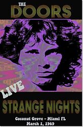 The Doors 1969 Strange Nights Concert Vintage Music Poster Reproduction