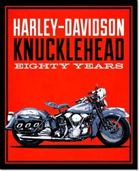 Harley-davidson Knucklehead Motorcycle Vintage Advertising Poster Reproduction