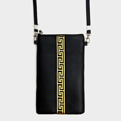 Designer Inspired Gold Greek Ribbon Crossbody Purse Touch Screen Cell Phone Bag $14.95