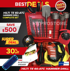 Hilti Te 60 Avr Hammer Drill, Preowned, Free Speaker, Fast Shipping