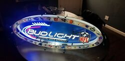 Bud Light Nfl All Teams Beer Neon Sign 15x36 Authentic New