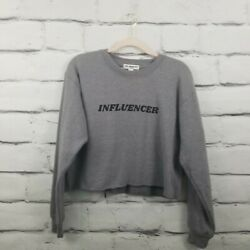 Suburban Riot Nordstrom Rack Women's Small Sweatshirt Cropped Influencer Gray  $14.69