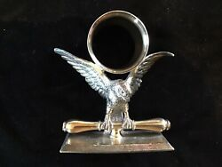 Scarce Antique Victorian Silverplate Napkin Ring American Eagle Rogers Sp