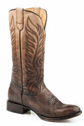 Roper Inked Womens Brown Leather Samantha Cowboy Boots