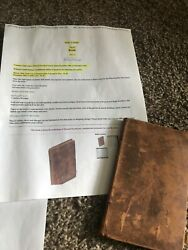 Pre- Civil War Documents Account Book With Solider History Wm. Carlile Stokes