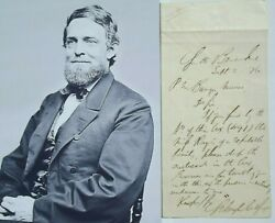 Schuyler Colfax 17th Vice President Of The United States Autograph Letter Signed
