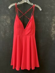 New Charlotte Russe Womens Size M Red Evening Cocktail Party Dress $19.99
