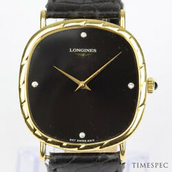 Longines 18k Yellow Gold With Diamonds 1970s Vintage Manual Watch