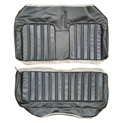 73 Satellite/ Road Run/ Charger Htp Rear Uph – Black Seat Covers –new Legandary