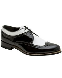 Stacy Adams Dayton Wingtip Black And White Oxford