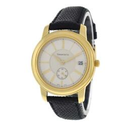Unisex And Co. Mark Round 18k Yellow Gold Date 37mm Quartz Watch