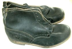 Ww2 Wwii German Infantry Officer Combat Pair Shoes Shoe Boots Size 42/43 New