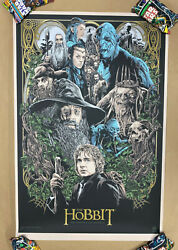 Mondo - The Hobbit Screen Print Poster 264/325 By Ken Taylor Lord Of The Rings