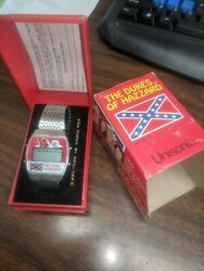 Vintage Dukes Of Hazzard Musical Alarm Watch Plays Dixie Unisonic 1981 Ships Fre
