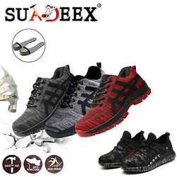Mens Safety Work Shoes Steel Toe Boots Indestructible Outdoor Casual Sneakers $34.99