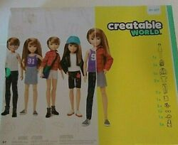 Creatable World Deluxe Character Kit Customizable Doll Dc-619 New