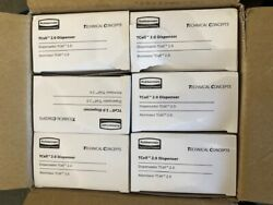 New Case Of 6 Rubbermaid Tcell 2.0 Black 1957531 Odor Control System