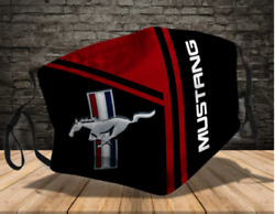 Hot Ford Mustang Cloth Face Mask One Size $13.95
