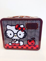 Loungefly Hello Kitty Metal Lunch Box Nerds With Round Glasses100 Brand New