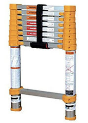 Xtend And Climb Home Series 750p+ Telescoping Ladder, Yellow. 8.5 Ft