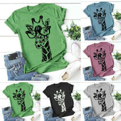Summer Fashion Women Animal Print Tops Cute Funny Graphics Tee T Shirt Blouse $9.99
