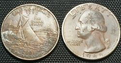 Error - Clad Missing Quarter Lot 💥 1965 And 2001 Ri Coins Ship In 2x2s
