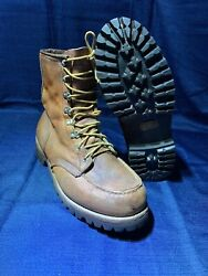Vintage Red Wing Irish Setter Moc Toe Boots Work Hunting Size 9 Ee Rare Amazing