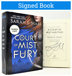 ✎signed 1/1✎ Sarah J. Maas Autographed Court Of Mist And Fury Throne Of Glass