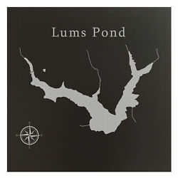 Lums Pond Map Wall Art Office Decor Gift Engraved Delaware