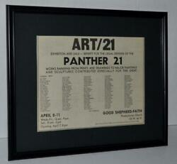 BLACK PANTHERS 1970 BOBBY SEALE PANTHER 21 FRAMED PROTESTS PROMO AD