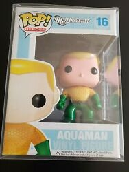 Funko Pop Dc Universe Aquaman 16 Vaulted Retired Rare With Protector