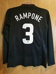 Nike Usa Us Womens Soccer Uswnt 2011 World Cup Away Jersey Christie Rampone 3 S